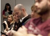 The audience ask the panel questions