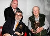 Phil Tippett,  Ray Harryhausen and host for the evening John Landis.