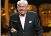 Comedy actor Stanley Baxter on stage at Happy Birthday BAFTA