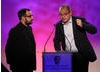 Chris Wood and Steve Roberts accept the Short Form BAFTA for animated series Dipdap.
