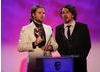 The Brothers McLeod accept the award for their animated series set in a world of psychedelic comedy maths.