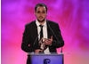 One of the winning development team members behind LEGO Pirates of the Caribbean accepts the Video Game BAFTA.