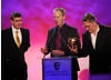 Phil Davies, Neville Astley and Mark Baker collect the BAFTA for Pre-School Animation, awarded to Peppa Pig.
