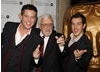 Bernard Cribbins arrives at the EA British Academy Children's Awards ceremony with Dick and Dom