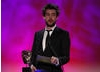The stand-up comedian and Fresh Meat star Jack Whitehall recites the nominations (Gigglebiz, Horrible Histories, The Legend of Dick and Dom, Sadie J) and winner of the Comedy category.