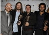 Winners of the Video Game award for 'LittleBigPlanet' with citation reader, Jason Bradbury.