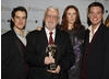 Bernard Cribbins, recipient of the BAFTA Special Award with citation reader Catherine Tate and presenters Dick and Dom.
