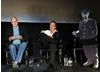 Eric Idle and John Cleese on stage at the Monty Python reunion event in New York on 15 October 2009 ( BAFTA)