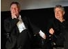 Michael Palin and Eric Idle on stage at the Monty Python reunion event in New York on 15 October 2009 ( BAFTA)