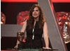 Actress Hayley Atwell - last seen in Any Human Heart - presents the New Media award.