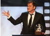 Quentin Tarantino with his Britannia Award.