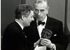 Richard Cawston collects the Desmond Davis Award from Lord Mountbatten at the Society of Film and Television Arts Awards in 1970.