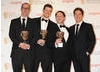 Actor Paul McGann who presented the New Media BAFTA to Psychoville's Jon Aird, Justin Davies and Reece Shearsmith.