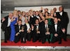 Mrs Brown's Boys wins the BAFTA for Situation Comedy. The team behind the show celebrate their win alongside award presenters Philip Glenister and Robert Glenister.
