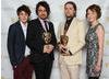 BAFTA-winning animators The Brothers McLeod with presenters Charlie Rowe and Dakota Blue Richards