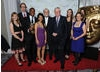 Some of the shows past and present crew, including presenters Ore Oduba, Sonali Shah and John Craven.