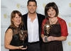 Presenter Sébastien Izambard (Il Divo) with the winning team from Kindle Entertainment.