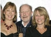 Nicolas Roeg poses with Julie Christie, left, and Jenny Agutter, right 