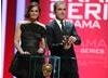 Presenting the first award of the evening Jane Eyre star Ruth Wilson and actor James Nesbitt. (BAFTA/Steve Butler)