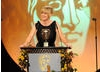 Actress Sarah Lancashire introduces the final BAFTA mask of the eveving, the Academy's Special Award.
