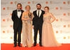 Citation Readers Joseph Mawle and Holliday Grainger with winning animators Sue Goffe and Grant Orchard.