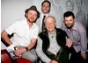 Simon Pegg, Ray Harryhausen, Andy Serkis and Reece Shearsmith after the event at the BFI, London (BAFTA/Brian J Ritchie).