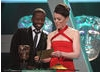 Olivia Williams and Adrian Lester present the award for Single Drama.