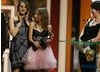 Molly Windsor and Lauren Socha collect the Single Drama BAFTA for Samanttha Morton's directorial debut The Unloved. (BAFTA/Steve Butler)