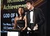 Sony's Alison Lau and Daniel Maher collect the Award for Technical Achievement for God Of War 2