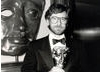 Steven Spielberg at the British Academy Film Awards in 1986.