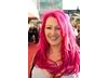 Jane Goldman sported her trademark pink hair on the red carpet as she arrived with husband and Entertainment Performance nominee Jonathan Ross (BAFTA / Richard Kendal).