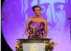 Actress Wunmi Mosaku took to the stage to announce the BAFTA nominees in the Costume Design category sponsored by Swarovski.