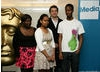 BAFTA Mentor Stewart Harcourt (second right) with young filmmakers Remi, Solyanna and Oushka from LIVE Futures.