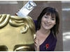 TV presenter Lorraine Kelly with her BAFTA Scotland award
