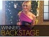 Jenni Falconer interviews the winners backstage at the TV Craft Awards