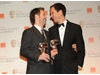 Winning director Paddy Considine with producer Diarmid Scrimshaw.