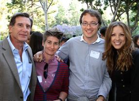 BAFTA Los Angeles' Donald Haber with Jules Nurrish, Brynach Day and Liza Rhea.