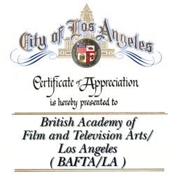 BAFTA Los Angeles City Certificate Square