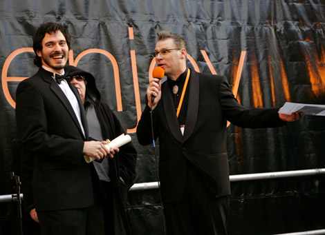 Mark Kermode Presents the 2007 Orange 60 Seconds of Fame Award to Alex Garcia for 'Happy Birthday Grand dad' 