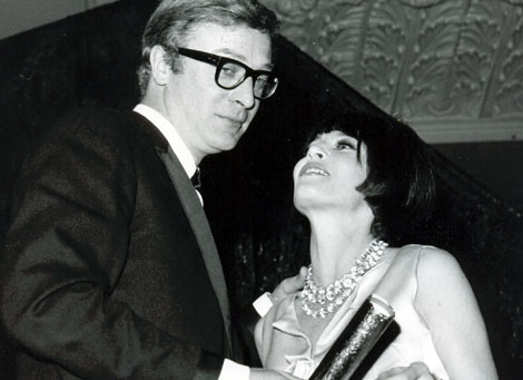 Michael Caine and Leslie Caron at the Film awards in 1965.