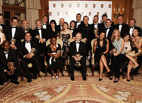 Winners at the British Academy Television Craft Awards in 2007 gather for a photocall.