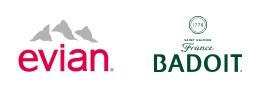 Evian & Badoit Logo combo