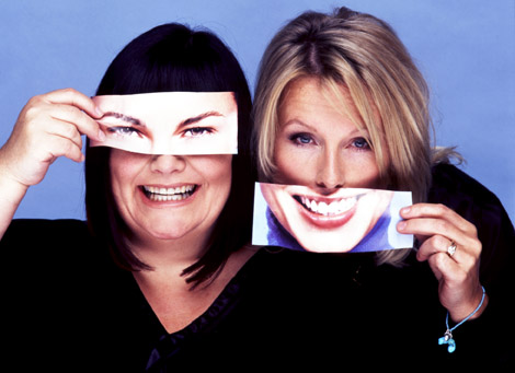 Dawn French and Jennifer Saunders in series six of their comedy sketch show French and Saunders, October 2004.