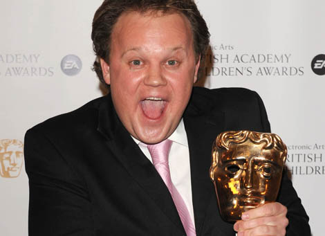 Presenter Award winner Justin Fletcher at the EA British Academy Children's Awards in 2008.