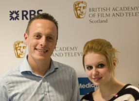 BAFTA Youth Mentoring: Craig Martin of The Princes Trust with Hayleigh, a young beneficiary
