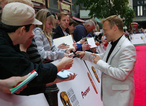 Graham Norton fans on the red carpet at the British Academy Television Awards in 2007.