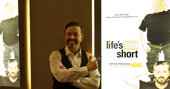 Ricky Gervais giving a glimpse of his new HBO show Life's Too Short