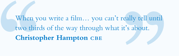 Christopher Hampton Screenwriter Quote