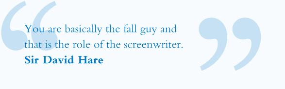 Sir David Hare Screenwriter Quote