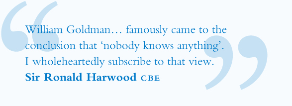 Sir Ronald Harwood Screenwriter Quote